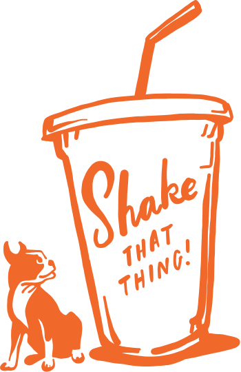 Illustration milkshake and dog